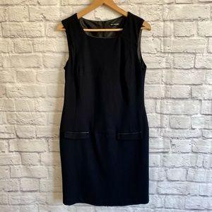 M&S Marks & Spencer Black Shift Dress